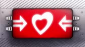 sex : Heart icon on a signboard. Looping.