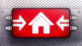 aviso : Home icon on a signboard. Looping.