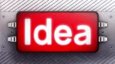 invent : Idea on a signboard. Looping.
