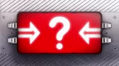 questões : Question mark on a signboard. Looping.