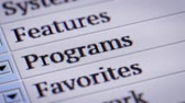 html : Programs. Looping. My own design of program menu. Stock Footage