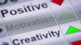 motivator : Motivation on the screen. Looping. Stock Footage