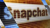 Snapchat in the blue screen. Snapchat is a popular social media application for sharing messages, images and videos. Stock Footage
