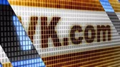 VK.com in the blue screen. Facebook is a well-known social networking service. Stock Footage