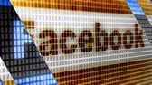 Facebook in the blue screen. Facebook is a well-known social networking service.