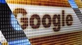 Google in the blue screen. Google is worlds most popular search engine. Stock Footage