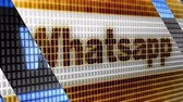 Whatsapp in the blue screen. WhatsApp is a popular social media application for sharing messages, images and videos. Stock Footage