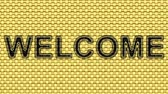 hessian : Welcome. Looping footage. Illustration. Stock Footage