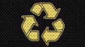 hessian : Recycle icon. Looping footage. Illustration.