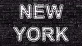 country name : New York. Looping footage has 4K resolution. Prores 4444.