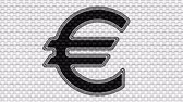 european currency : Euro icon. Looping footage. Illustration. Stock Footage