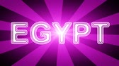 gestaltung : Egypt icon in red abstract background with rays. Looping footage with Prores 4444 and 4K resolution.