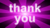 gestaltung : Thank You icon in red abstract background with rays. Looping footage with Prores 4444 and 4K resolution.