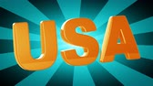Техас : USA. Looping footage has 4K resolution. Illustration.