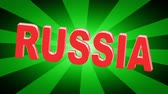 rublo : Russia. Looping footage has 4K resolution. Illustration. Filmati Stock