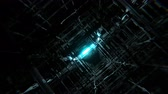 4K futuristic techno grid space seamlessly looping VJ 3D animation