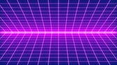 Retro-futuristic 80s synthwave grid background. Perfectly seamless looped opener animation.