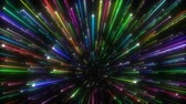 неон : Colorful shining lines flying towards you. Seamlessly looping video animation