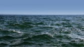 landscape of sea with small waves Stock Footage