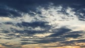 thajsko : 4K Time lapse of clouds movement at sunset sky