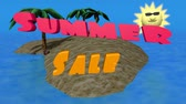 купить : Animated 3D text Summer Sale with small island
