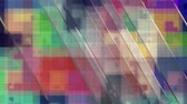 Random glass pane movement over abstract background in colorful spectral colors. 4K UltraHD motion graphic animation.