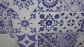 çini : Patchwork Tile Background features an interesting old style wall  video in a blue white colors