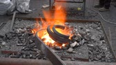 kowalstwo : Blacksmith fire with hot metal