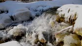 river rapids : Winter mountain river