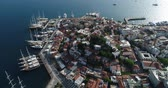 marmaris : Aerial view. Marmaris - resort town in Turkey.4K. Stock Footage