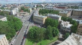 zenit : Shooting from a flying quadrocopter over the city of St. Petersburg. Part 1 Stock Footage