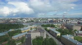 zenit : Shooting from the flying quadrocopter of the city of St. Petersburg. Part 4 Stock Footage