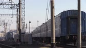shale : Trains are parked. In The city of Brest, Belarus.