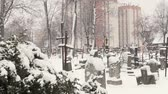 ангельский : the old Catholic cemetery in winter and high home
