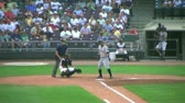 DAYTON - AUGUST 2: Hitter (name withheld) prepares to swing, but gets walked August 2, 2007 in Dayton, OH.  Stock Footage
