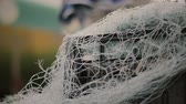 netting : Fishnet on the beach close-up on