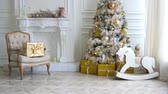 presentes : White classic Christmas and New Year interior Vídeos