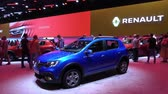 renault : Renault exhibition stand on Moscow International Automobile Salon 2018 in Russia