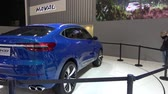 logo marketing : Présentation du concept-car Haval HB-03 au Salon international de l'automobile de Moscou 2018 en Russie Vidéos Libres De Droits