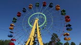objetos : Ferris wheel in the park Stock Footage
