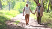 querido : Charming seniors taking an unhurried walk in late summer