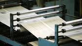mürekkep : Fast process of black-and-white newspaper sheets passing the offset cylinders