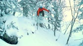 japão : Japan air grab performed in slow motion by back country rider