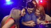 снимок : Close up of five friends posing for a selfie at club