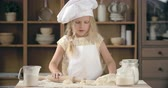 штифт : Lovely little baker rolling dough into circles