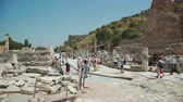 JUNE 15TH, 2018 - TURKEY, SELCUK: Tourists walks at the ancient library