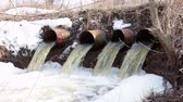 corrode : Water flows from large pipes 1