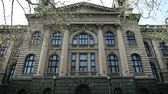 serbia : Shot of facade of parliament in Belgrade in Serbia