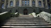 serbia : Shot of stairs to parliament in Belgrade in Serbia