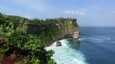indonesia : View from cliffs near Uluwatu temple Stock Footage